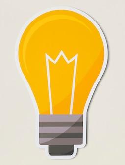 Icône d'ampoule créative isolée