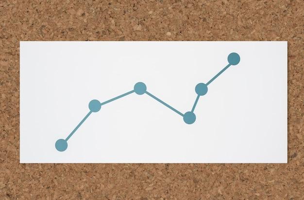 Icône d'analyse de données de graphique linéaire