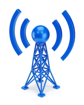 Icône d'antenne bleue
