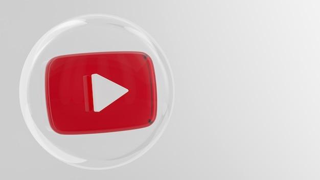 Icône de l'application youtube bannière de médias sociaux
