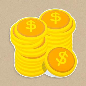 Icône d'argent isolé
