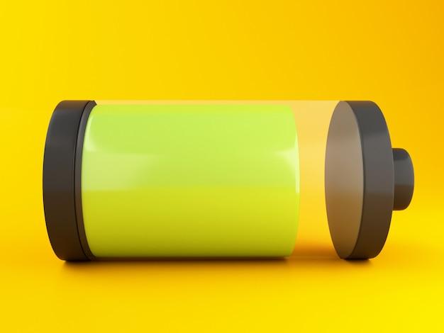 Icône de la batterie 3d