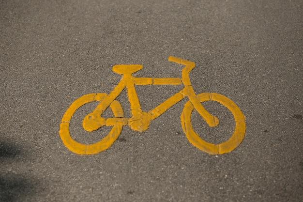 Icône de bicyclette sur la route