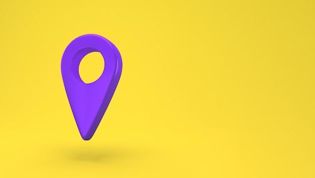 Icône de broche de carte fond isolé. navigation, pointeur, emplacement