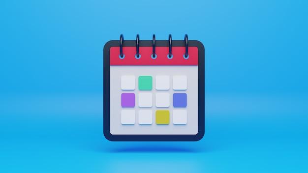 Icône de calendrier 3d