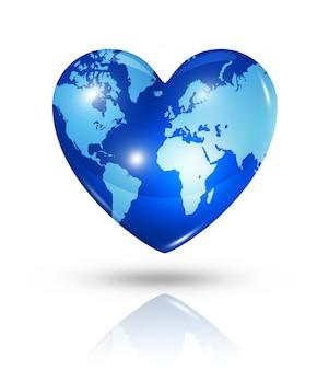 Icône de coeur de la terre d'amour
