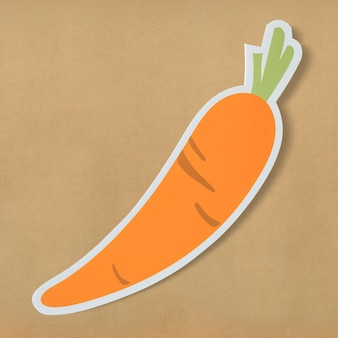 Icône de découpe de carotte nutritive saine