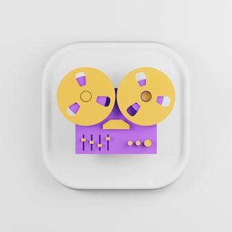 Icône de dessin animé de bobine de magnétophone