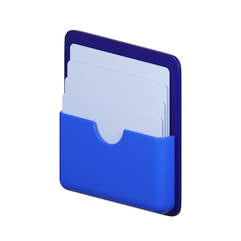 Icône de dossier avec document isolé sur blanc