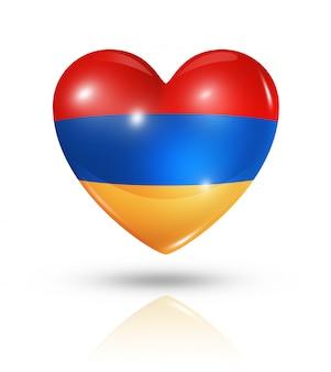Icône de drapeau coeur arménie amour