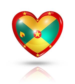 Icône de drapeau coeur grenade amour