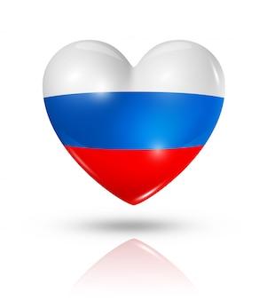 Icône de drapeau coeur russie
