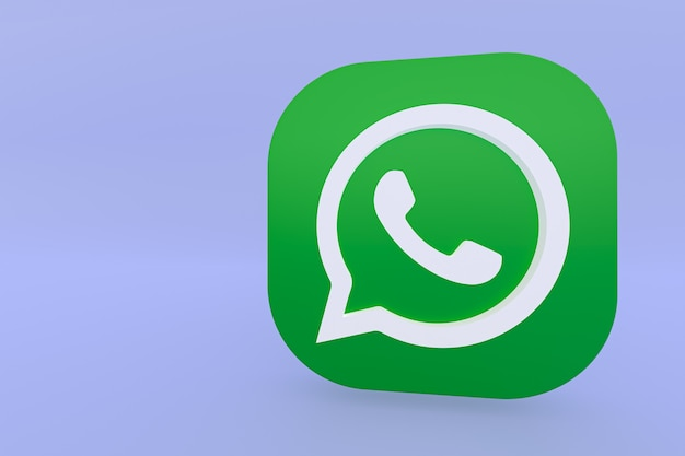 Icône Du Logo Vert De L'application Whatsapp Photo Premium