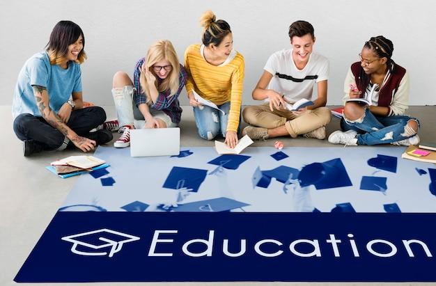 Icône de l'école du curriculum de certification de l'académie