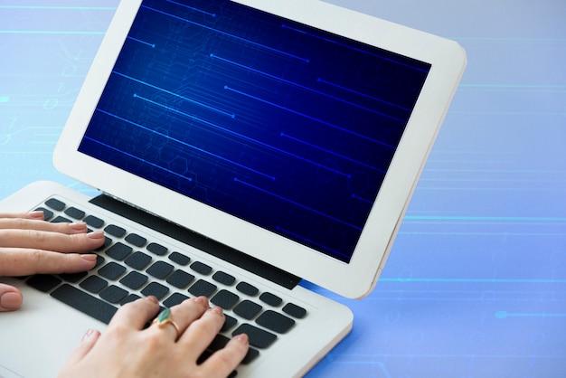 Icône d'écran bleu de code de circuit