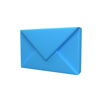 Icône d'enveloppe de lettre 3d. icône d'enveloppe de lettre de rendu 3d. icône 3d enveloppe isolée