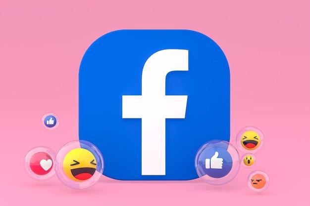 Icône facebook avec rendu 3d emojis