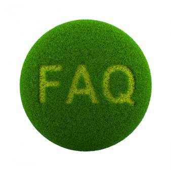 Icône de faq de sphère d'herbe