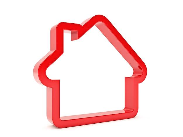 Icône de forme de maison 3d avec cible