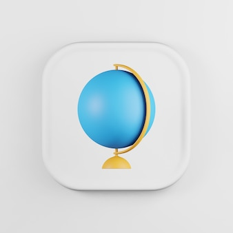 Icône de globe minimaliste sur le style de dessin animé de stand.