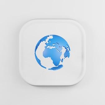 Icône de globe avec le style de dessin animé de continents