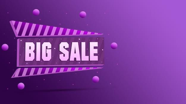Icône de grande vente avec des boules 3d