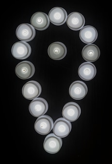 Icône grise des lumières grises