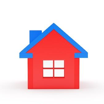 Icône de gros plan maison rouge
