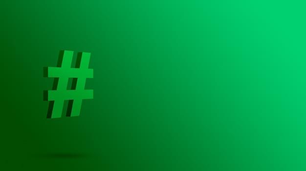 Icône de hashtag 3d