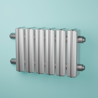 Icône d'illustration réaliste 3d du radiateur de batterie de chauffage central