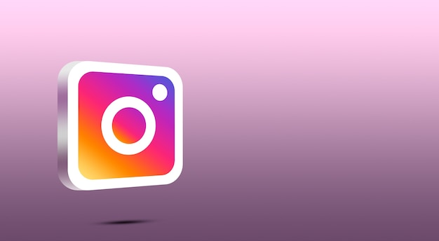 Icône instagram 3d