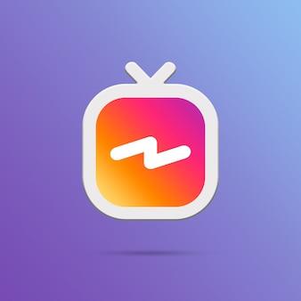 Icône instagram igtv 3d