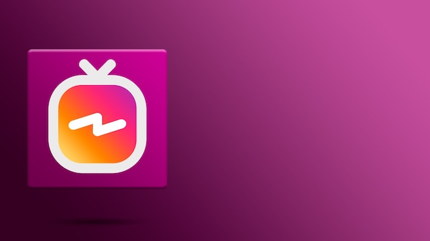 Icône instagram igtv sur plate-forme