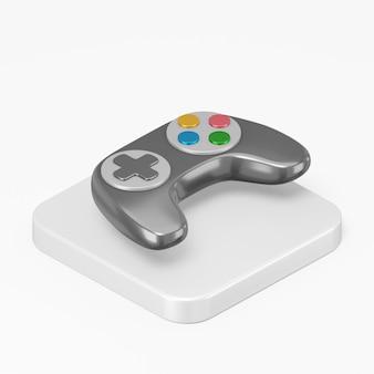 Icône de joystick noir dans l'élément d'interface de rendu 3d ui ux