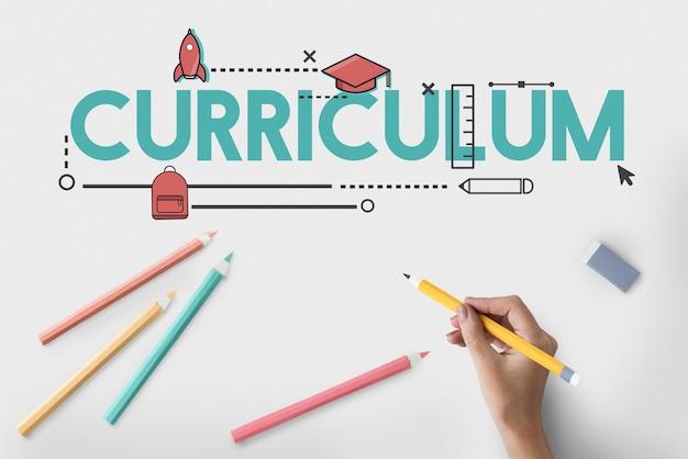 Icône knowldege du curriculum de certification de l'académie