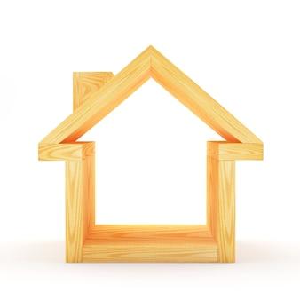 Icône de maison en bois vide