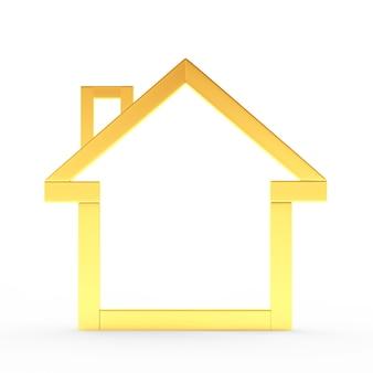 Icône de la maison dorée vide