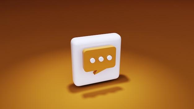 Icône de massage rendu 3d sur fond jaune et met en évidence