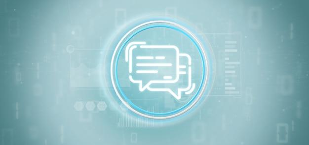 Icône de message avec des données tout autour