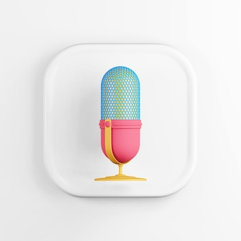 Icône de microphone multicolore