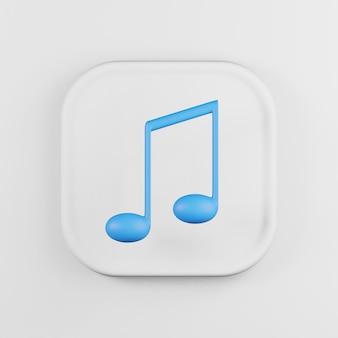 Icône de note de musique bleue