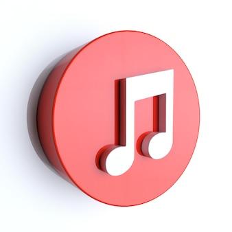 Icône de note de musique illustration 3d