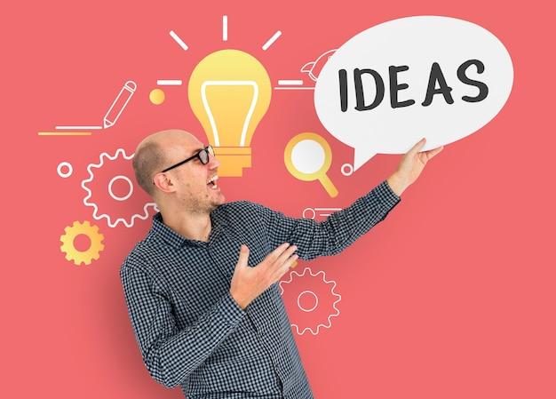Icône de nouveauté originale d'idées authentiques