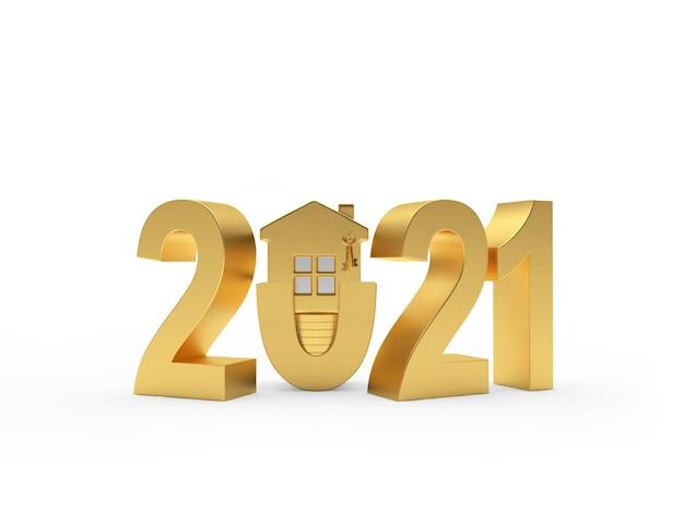 Icône numéro 2021 et maison
