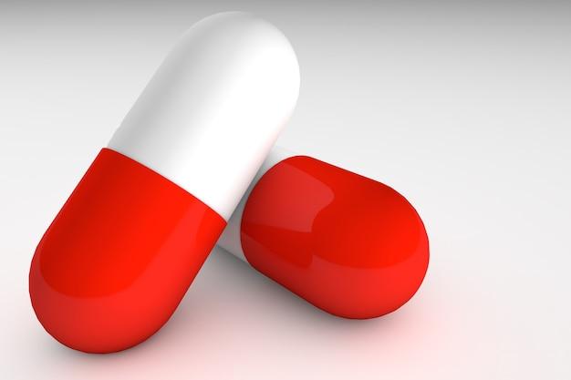 Icône de pilule médicale réaliste de rendu 3d isolé sur fond blanc. modèle de conception de graphiques, bannières.