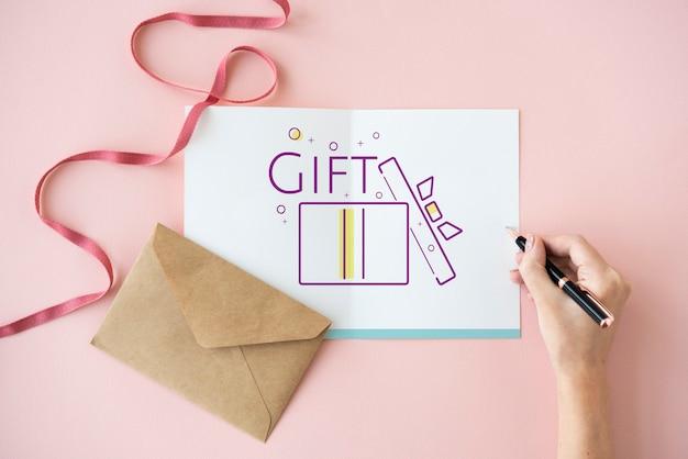 Icône de présent de boîte-cadeau festif