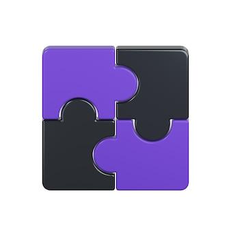 Icône de puzzles isolé sur blanc