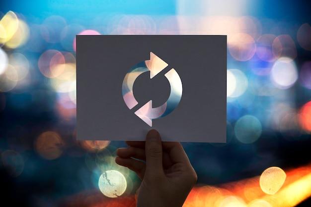 Icône de rafraîchissement rechargement du papier perforé