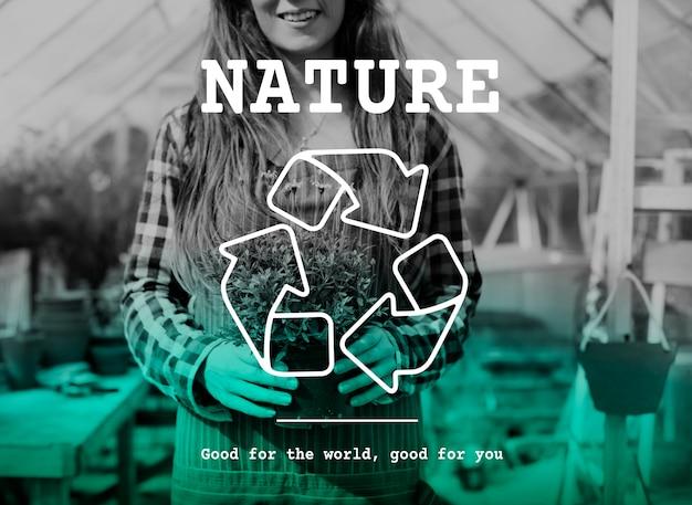 Icône de recyclage écologique vert