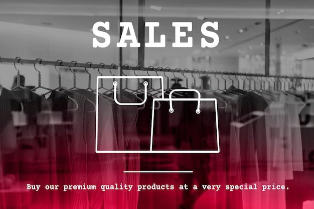 Icône de sac à provisions offre remise vente